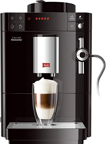 Melitta Caffeo Passione-Cafetera (Independiente, Negro, Espresso Machine, Granos molido, Capuchino, Café, Agua Caliente, 1,2L), 1450 W, 1.2 litros, ...
