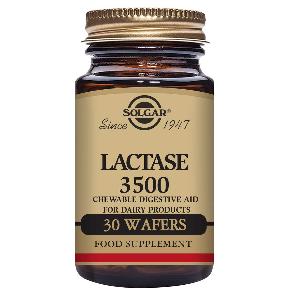 Solgar Lactase 3500 Chewable Wafers, 30 Count