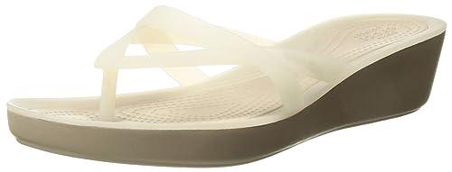 f1bd08f4bd79 Crocs Womens Isabella Wedge Flip W Flip Flop  Amazon.ca  Shoes ...