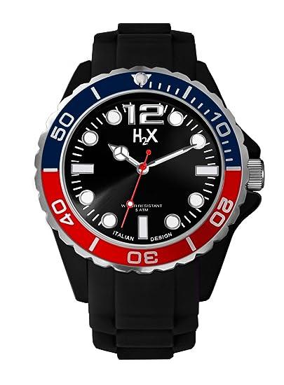 628a5bcdbea8 Haurex Reloj Analógico para Hombre de Cuarzo con Correa en Caucho SN382UN2   Amazon.es  Relojes