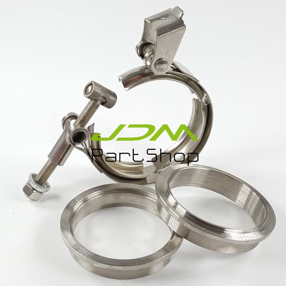 4 inch V-Band QUICK RELEASE CLAMP and COLLAR SET 102mm STAINLESS STEEL Vband
