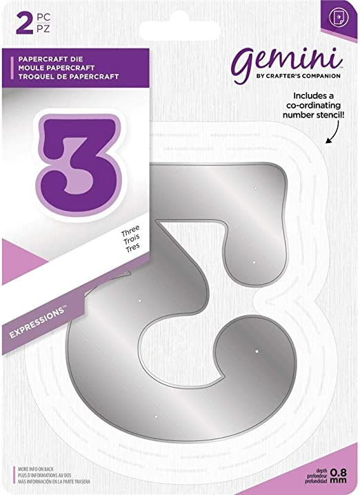 NEW Gemini Expressions Metal Die and Stencil Number 1