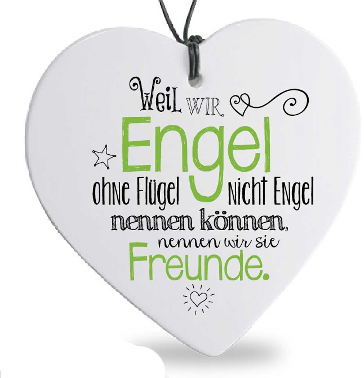 Formano Herz Hänger Engel Freunde Spruch Herzhänger