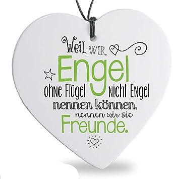 Formano Herz Hanger Engel Freunde Spruch Herzhanger Freundschaft