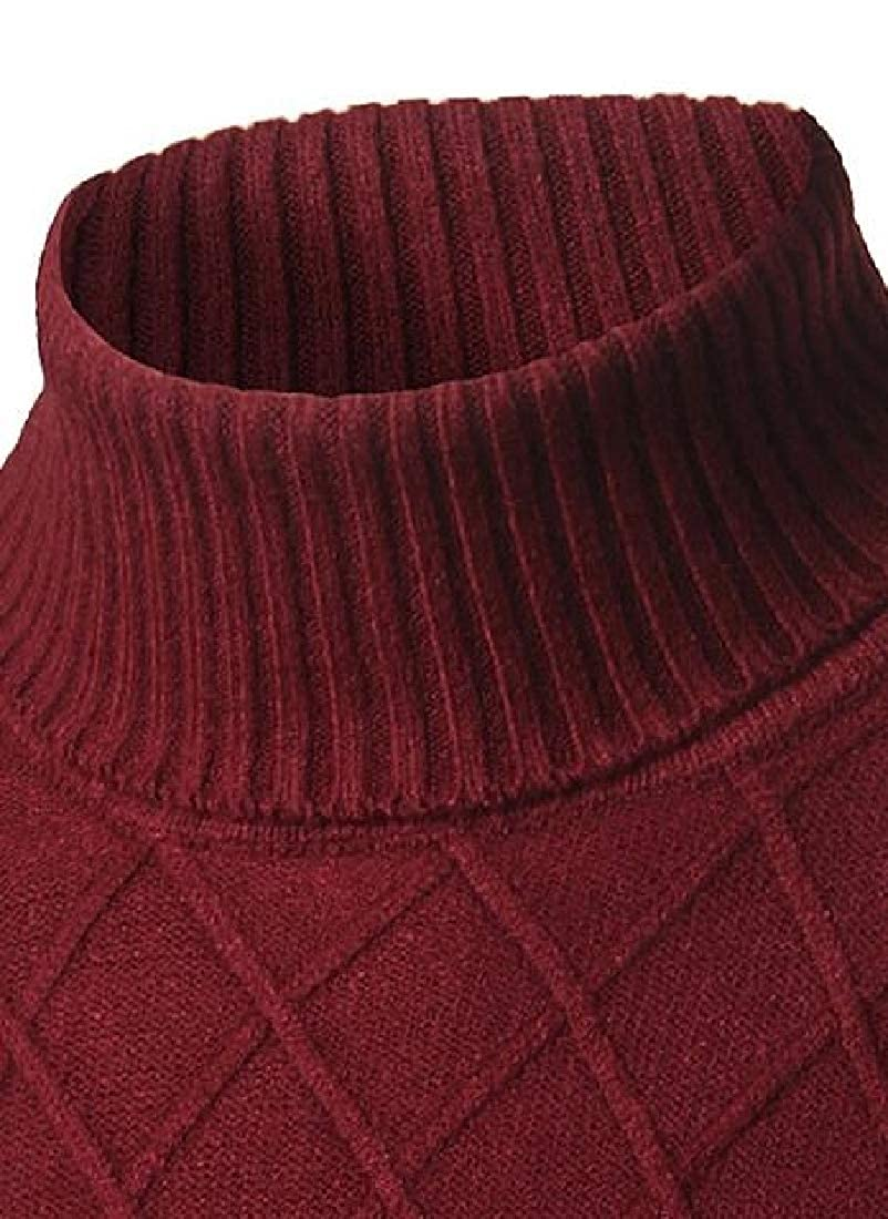 omniscient Men/'s Fashion Turtle Neck Wool Blend Relax Fit Pullover Sweater