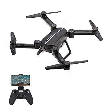 Goolsky JIE-Star X8TW Drone con Cámara WiFi FPV 0.3MP Plegable 2.4 ...