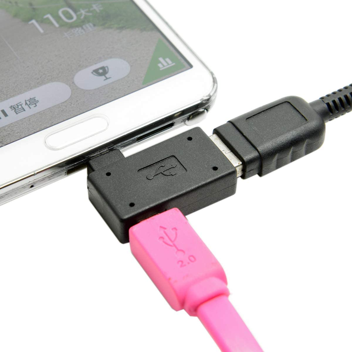PRO OTG Cable Works for Huawei Ascend Y540 Right Angle Cable Connects You to Any Compatible USB Device with MicroUSB