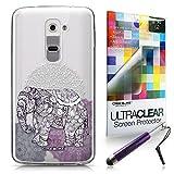CASEiLIKE Mandala Art 2301 Ultra Slim Bumper Snap-on case back cover for LG G2 +Screen Protector +Retractable Stylus Pens (Random Color)
