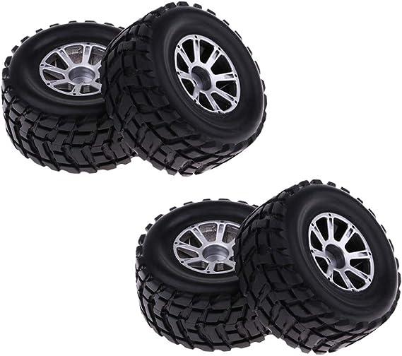 P Prettyia 4er Set Gummin Reifen Ersatzreifen Zubehör Für 1 18 Wltoys A969 Rc Auto Spielzeug