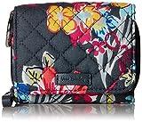 Vera Bradley Iconic RFID Card Case, Signature Cotton, pretty Posies