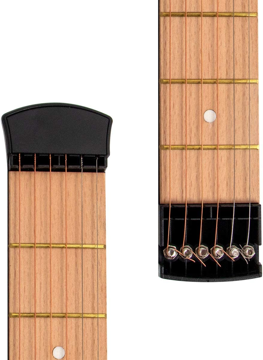 Pocket Acoustic Guitar Practice Tool 6 String Fingerboard 6 Fret Chord Trainer Portable