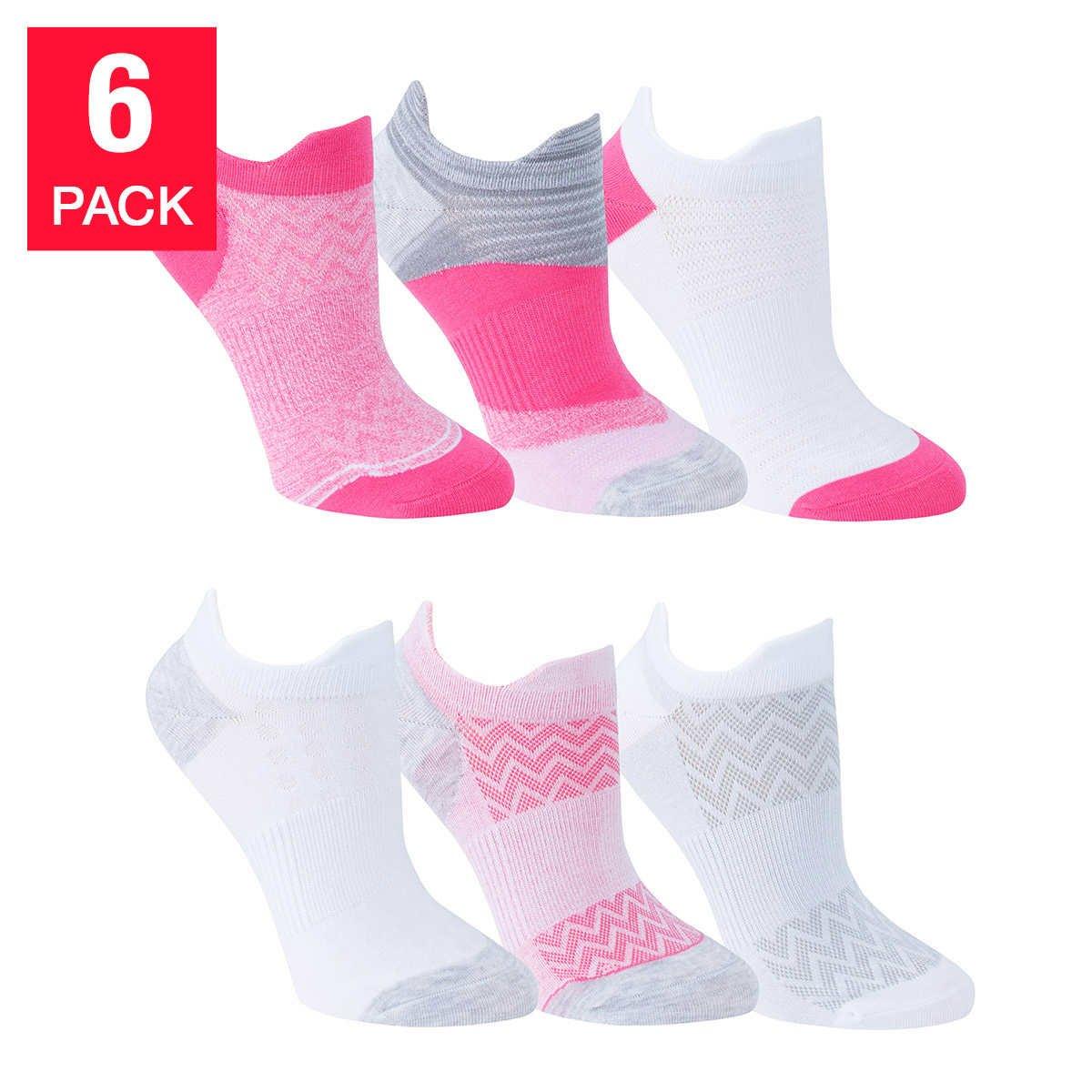 Yummie Ladies 6-pack Tabby Sock Pink