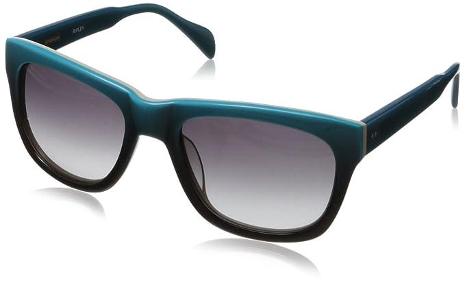 ac38373a42fa0 Derek Lam Ripley cuadrado anteojos de sol, color Azul, talla 56 mm ...