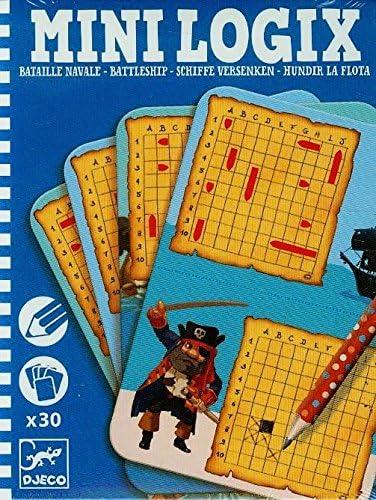 DJECO- Juegos de acción y reflejosJuegos de mesaDJECOMini-logix Hundir la Flota, Multicolor (1): Amazon.es: Juguetes y juegos