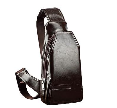 Amazon.com: Fieans piel Cruz Cuerpo bolsas messenger bag ...