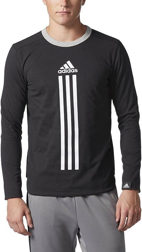 adidas hombres de atletismo deporte ID Reversible camiseta de manga larga, hombre, Black/Medium Grey Heather: Amazon.es: Deportes y aire libre