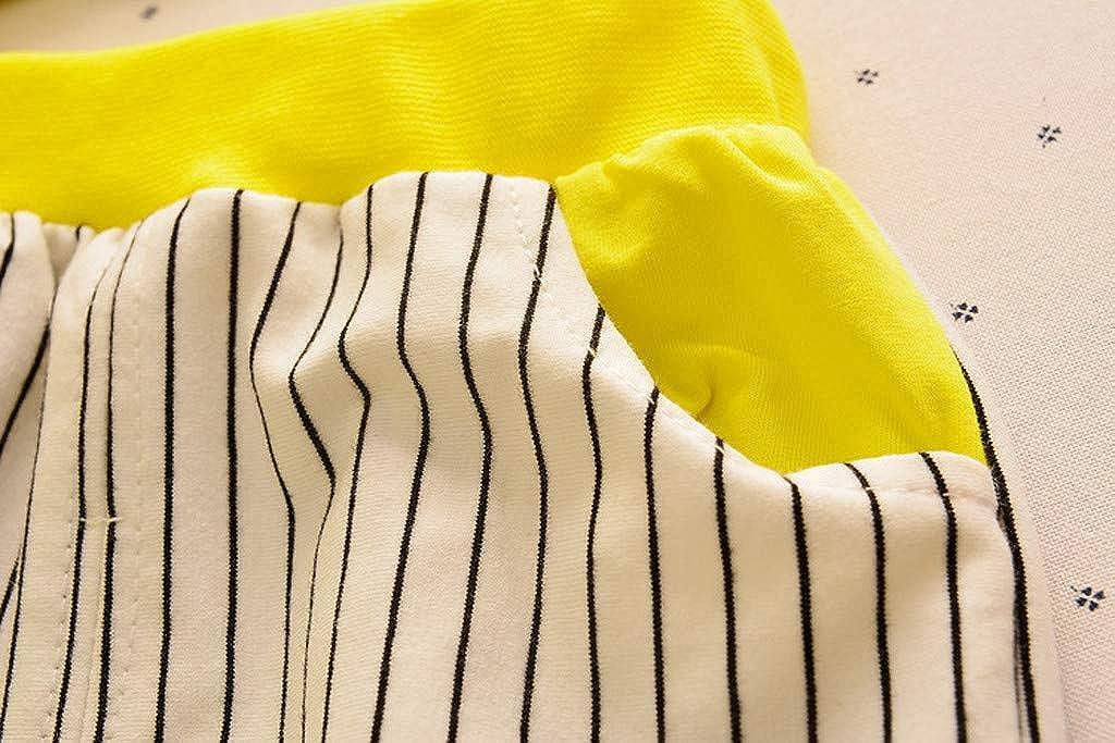 Cuekondy Toddler Baby Boys Kids Cute Cartoon Elephant Stripe Vest Top Shorts Summer Casual Clothes Outfit Sport Suit