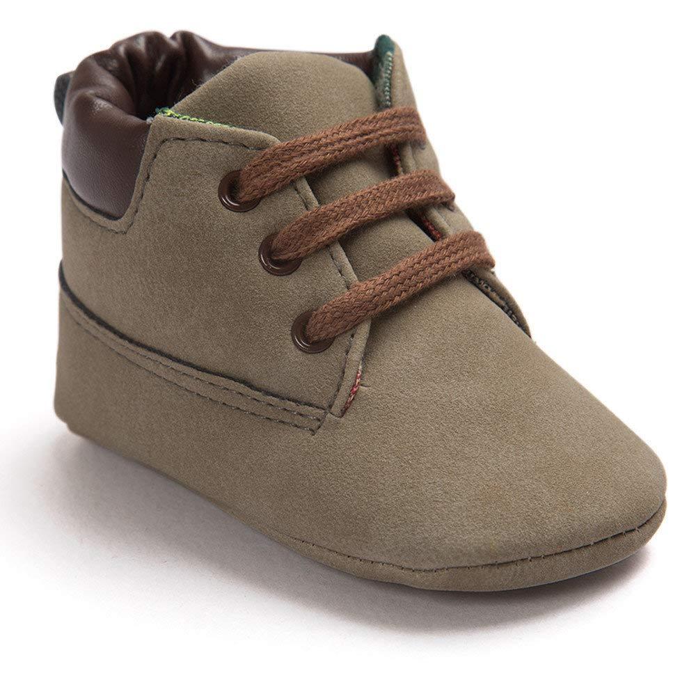 BaZhaHei Zapatillas de Niños Niña Bebé Romirus bebé niño Suela Suave Zapatos de Cuero Infantil niño niña niño Zapatos Diseño único Zapatillas para Bebé Zapatos con Estilo y Comodo