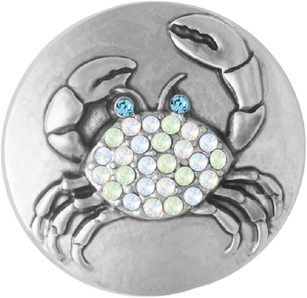 Ginger Snaps Sunny Crab SN21-42 (Standard Size) Interchangeable Jewelry Accessories