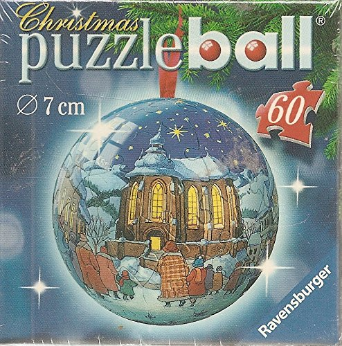Ravensburger Christmas Puzzle Ball Holiday Scene with Church 60 Piece ()