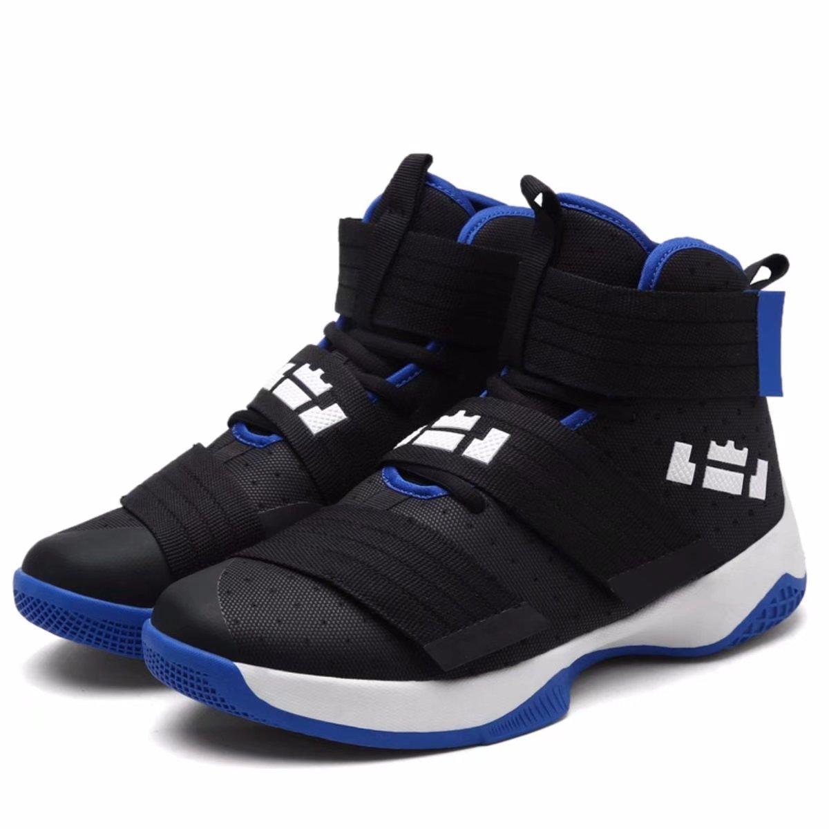 Men's Performance Velcro All-Star Sports Running Shoe Crazy Explosive Mid Basketball Shoes Sneakers for Women B07C79HSXT 11 US-Women|9.5 US-Men|Foot Length 10.43(in)|Black-blue