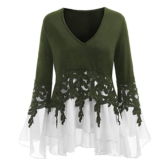 64983193be30 Image Unavailable. Image not available for. Colour: Lolittas Lace Chiffon  Batwing Tops Womens ...