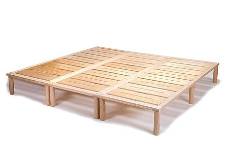 Gigapur letto letto con rete a doghe di legno portata fino a 195