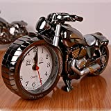 SKYZONAL New Quartz Analog Travel Desk Alarm Clock Time Motorcycle Model Battery Operated Home Office Gift