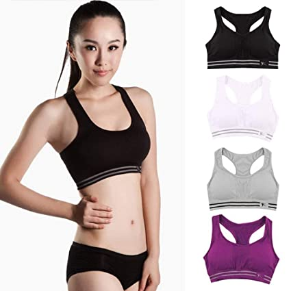 5862bc89daa8f Image Unavailable. Image not available for. Color  LZLAN Women Seamless  Racerback Sports Bra Top ...