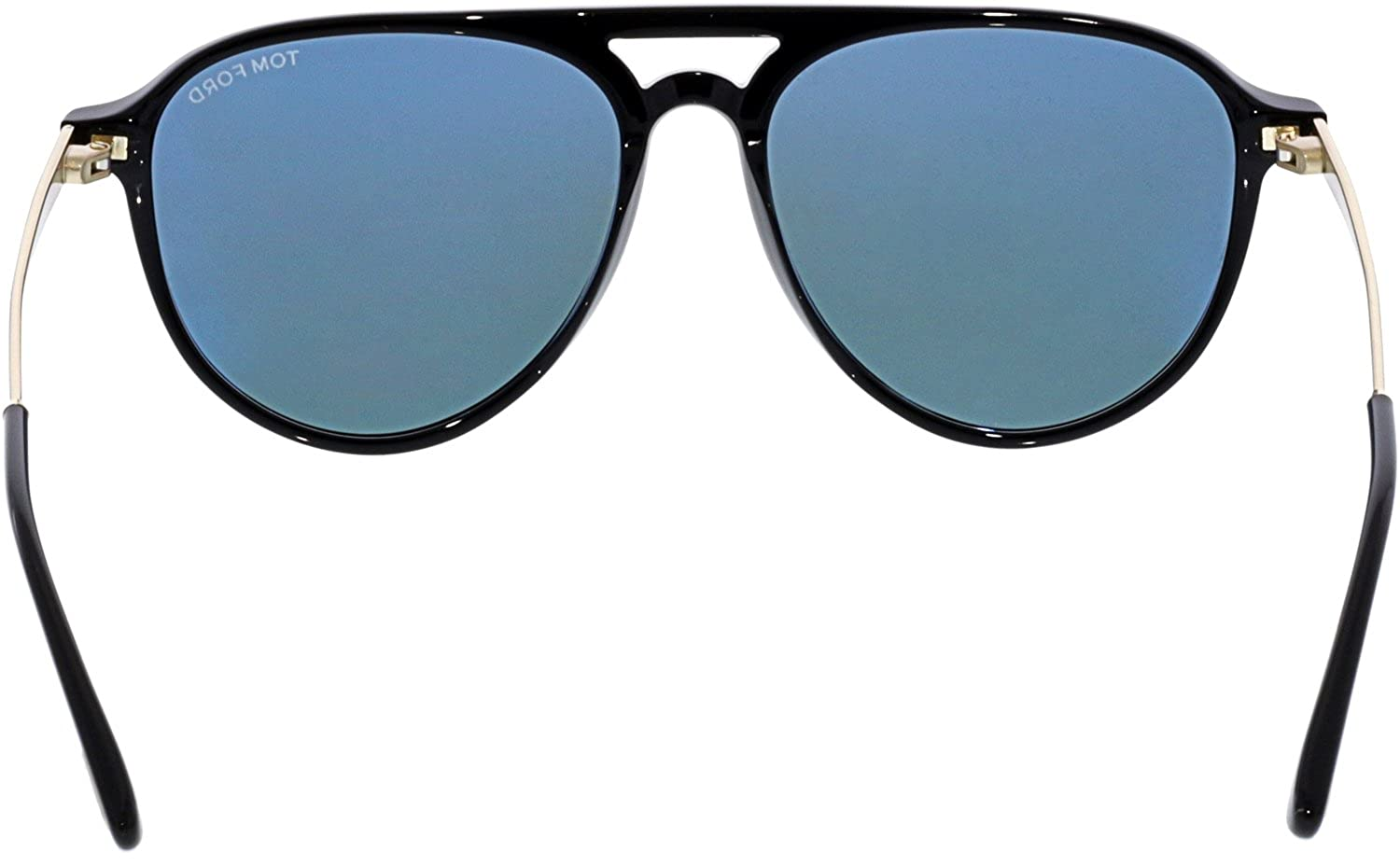 4ac557ff4e Sunglasses Tom Ford FT 0587 Carlo- 02 01V shiny black   blue at Amazon  Men s Clothing store