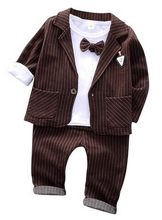 3c20801a21b37 (ラボーグ) La Vogue ベビー服 フォーマル スーツ 長袖 シャツ ジャケット ズボン 3点セット 正装