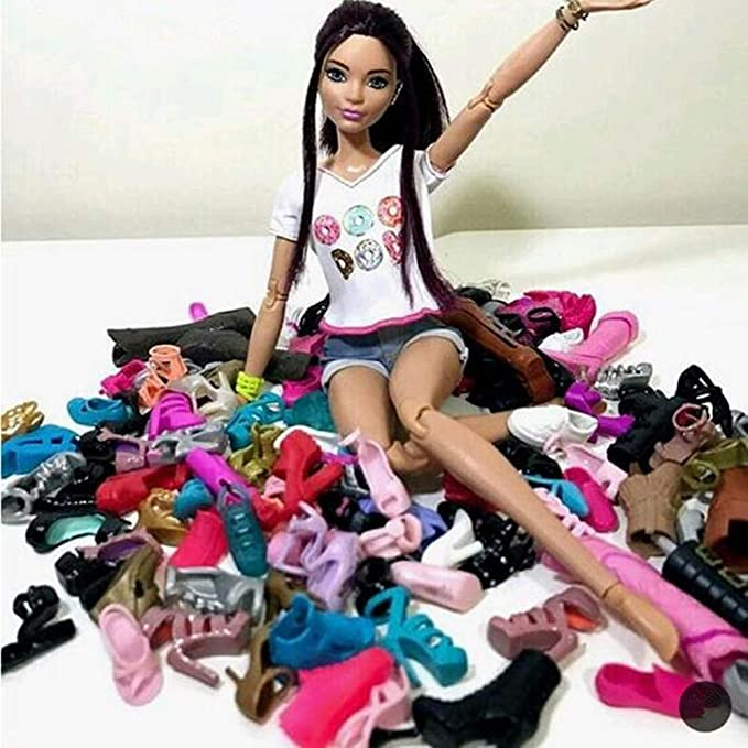 Barbie My Scene Doll Shoes Bling Chunky High Heel Boots Rare CHOOSE