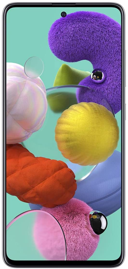 "Samsung Galaxy A51 (128GB, 4GB) 6.5"", 48MP Quad Camera, Dual SIM GSM Unlocked A515F/DS- Global 4G LTE International Model (Prism Crush White)"
