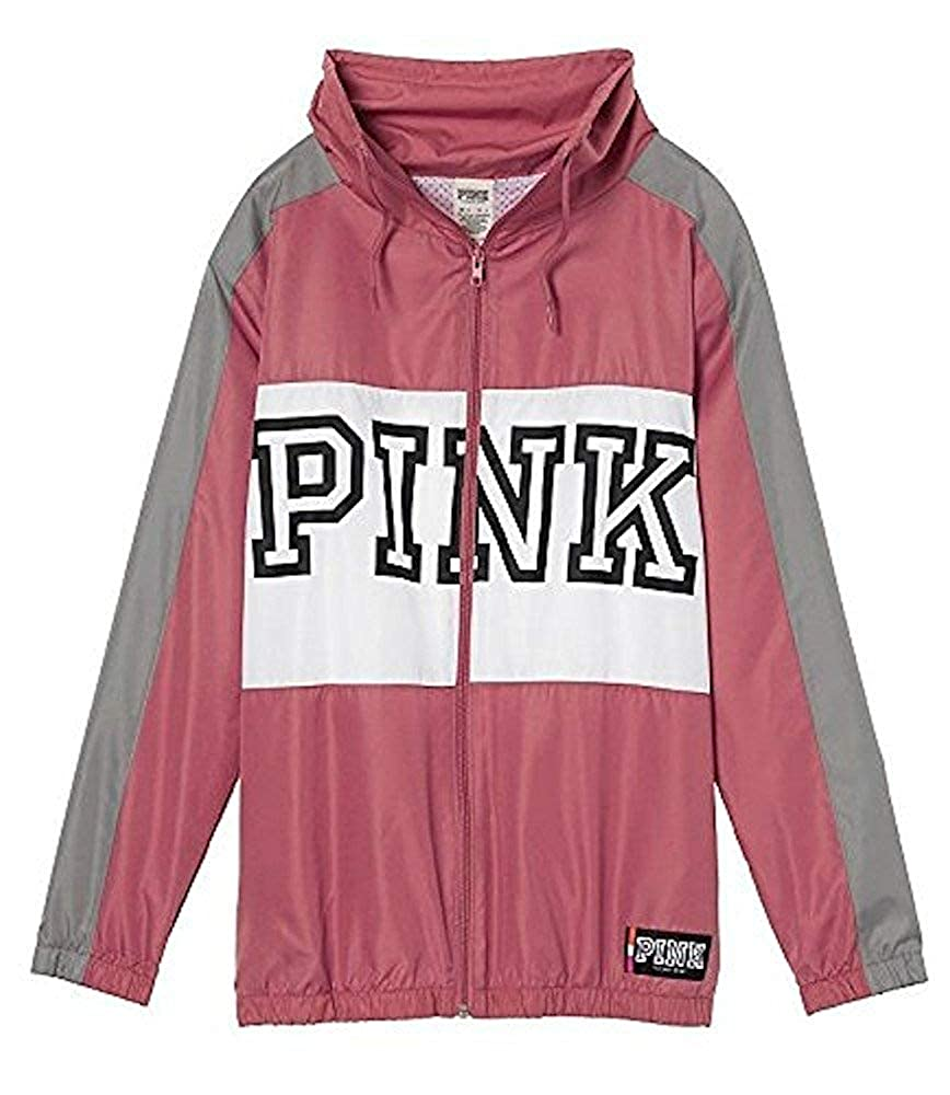 516caf68bfdeb Victorias secret pink anorak full zip jacket soft begonia at amazon womens  coats shop jpg 868x1000
