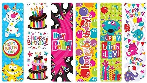 Raymond Geddes Happy Birthday Bookmark, 100 Pack (69741)