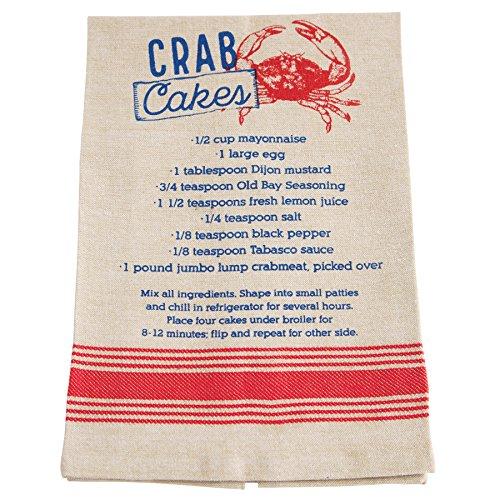 Mud Pie Chambray Crab Cake Recipe Kitchen Towel -