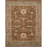 Safavieh Heritage Collection HG968A Handcrafted Traditional Oriental Brown and Blue Wool Area Rug (8'3'' x 11')