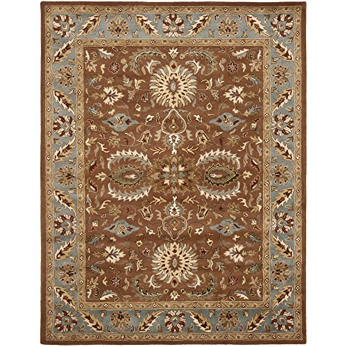 Safavieh Heritage Collection HG968A Handcrafted Traditional Oriental Brown and Blue Wool Area Rug (8'3'' x 11') by Safavieh