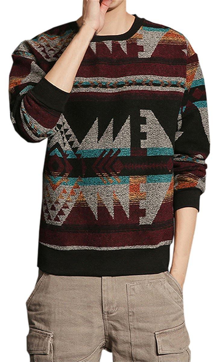QZH.DUAO Mens Pullover Knit Sweater
