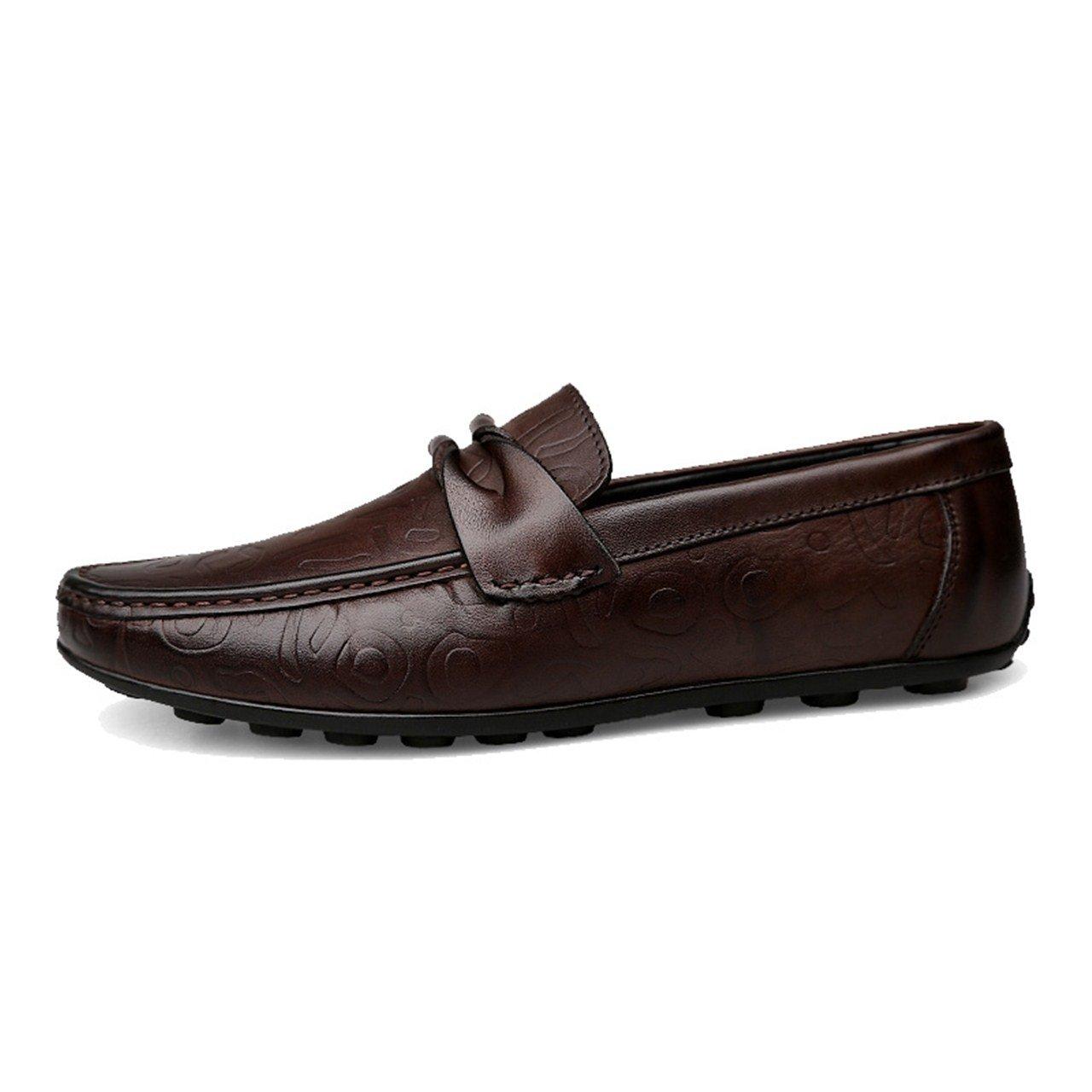 TRULAND Mocasines Elegantes para Hombre en Cuero Genuino: Amazon.es: Zapatos y complementos