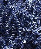 10 lb. Box Navy Blue Crinkle Cut Gift Bag Box Filler