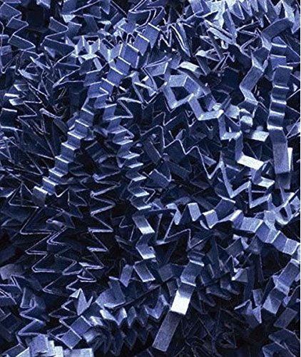 10 lb. Box Navy Blue Crinkle Cut Gift Bag Box Filler by Bags & Bows By Deluxe