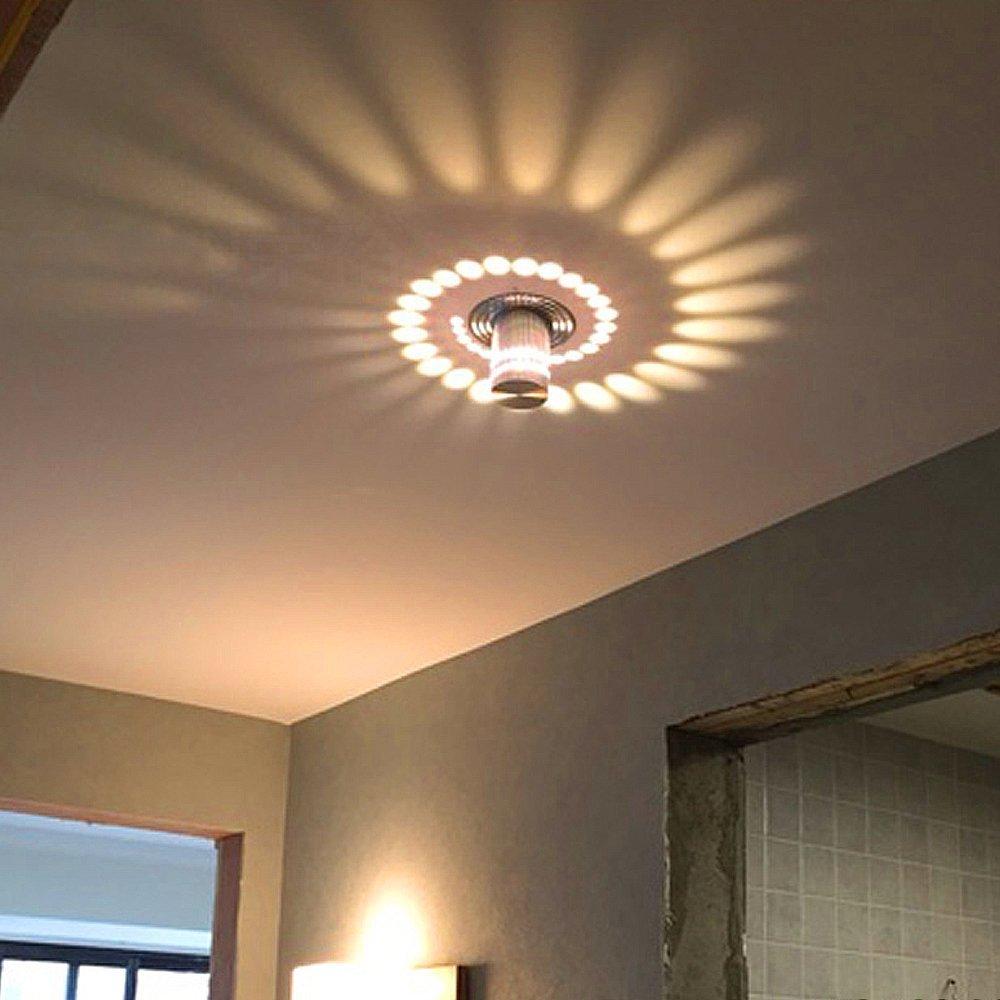 3w led wandlampe wandleuchte flurlampe effektlicht for Flurlampe deckenlampe