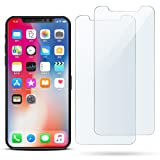 Amazon Price History for:iPhone X Screen Protector, 2-Pack iPhone X Glass Screen Protector Anti-Glare Shatter-Proof 9H Tempered Hardness Bubble-Free HD Clear Thin Front Protective Film Skin for Apple iPhone X - Case Friendly