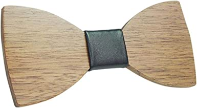 Laughingcv Suave de madera para hombre, chico, corbata de moño ...