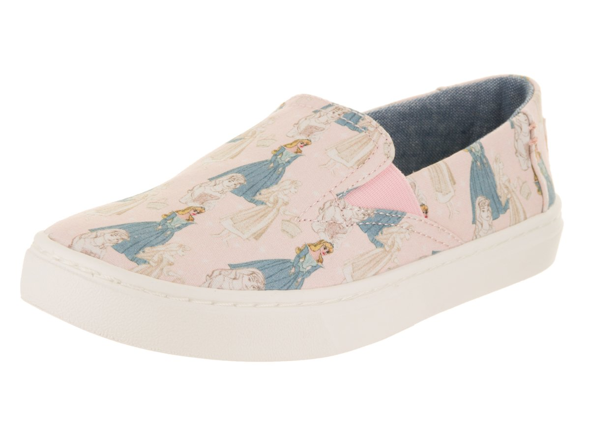 TOMS Kids Girl's Luca Disney Princesses (Little Kid/Big Kid) Pink Sleeping Beauty Printed Canvas 1 M US Little Kid