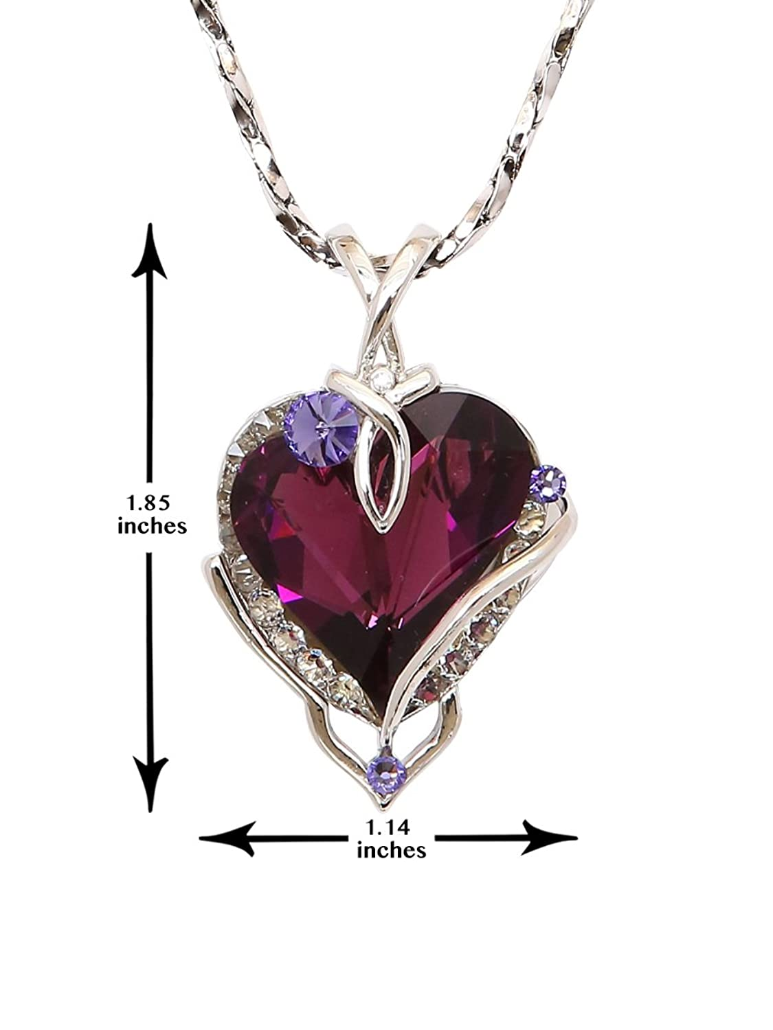 Amazon big heart pendant necklace with swarovski crystal amazon big heart pendant necklace with swarovski crystal made in usa p8134 1am 3019 jewelry mozeypictures Images