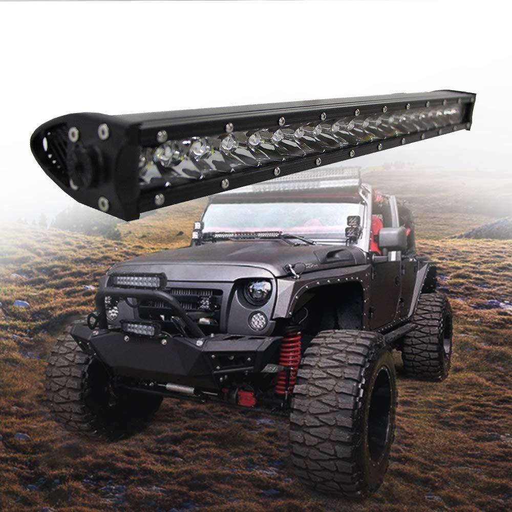 "20/'/' inch 90W Slim CREE Single Row SPOT Led Offroad Light bar Jeep Boat 4X4 22/"""
