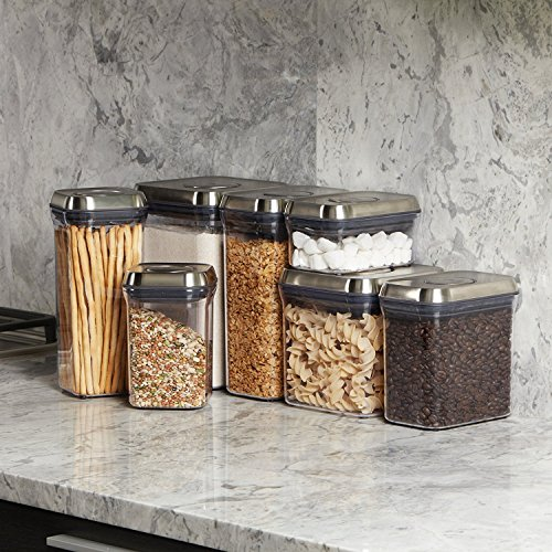 OXO SteeL 5-Piece Airtight Food Storage POP Container Set