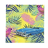 """Talking Tables Cuban Fiesta 10"""" Two Colorways Reversible Cocktail Napkin for a Birthday or Evening Celebration (20 Pack)"""